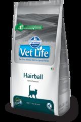 Ветеринарный корм для кошек, способствующий выведению комочков шерсти из кишечника FARMINA Vet Life Hairball