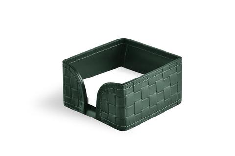 Лоток для блока бумаги из кожи цвет TRECCIA/ЗЕЛЕНЫЙ