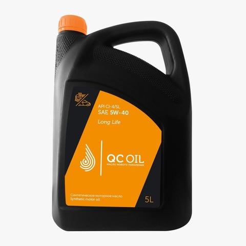 Моторное масло для грузовых автомобилей QC Oil Long Life 5W-40 (синтетическое) (5л.)