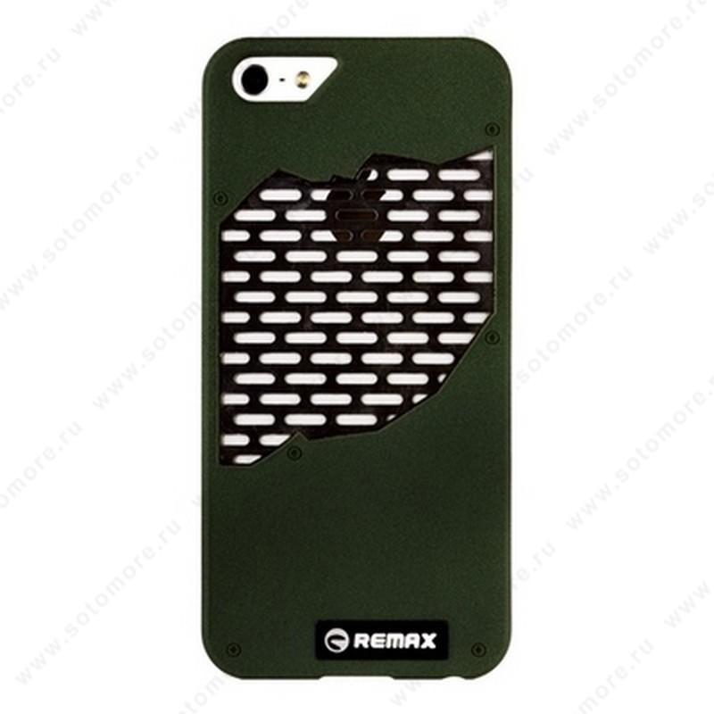 Накладка REMAX для iPhone SE/ 5s/ 5C/ 5 с решеткой темно-зеленая