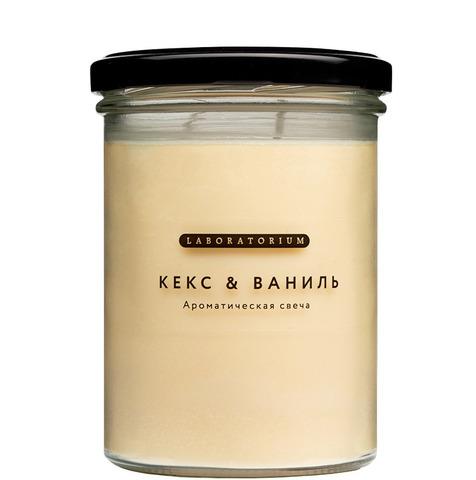 Ароматическая свеча Кекс и ваниль 280 мл, Лабораториум