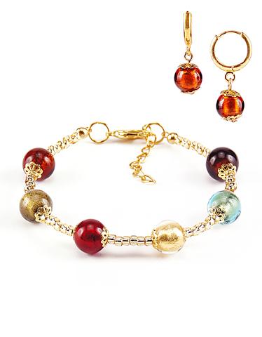 Комплект Carnavale Oro (браслет и серьги Piccolo янтарные)