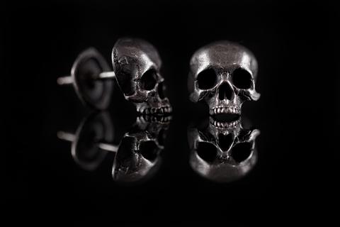 Серьги череп без челюсти