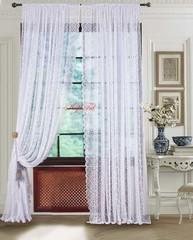 Длинные шторы. Тюль гипюр Petites-T (белый)