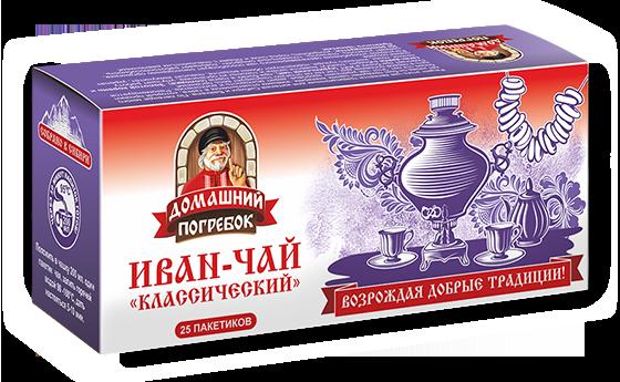 Чай травяной Домашний погребок Иван-чай Классический в пакетиках