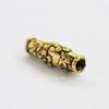 "Бусина - трубочка TierraCast ""Дикая роза"" 15х5 мм (цвет-античное золото)"