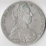 P4487, 1780, Австрия, 1 талер Мария Терезия (реставрация отверстия)