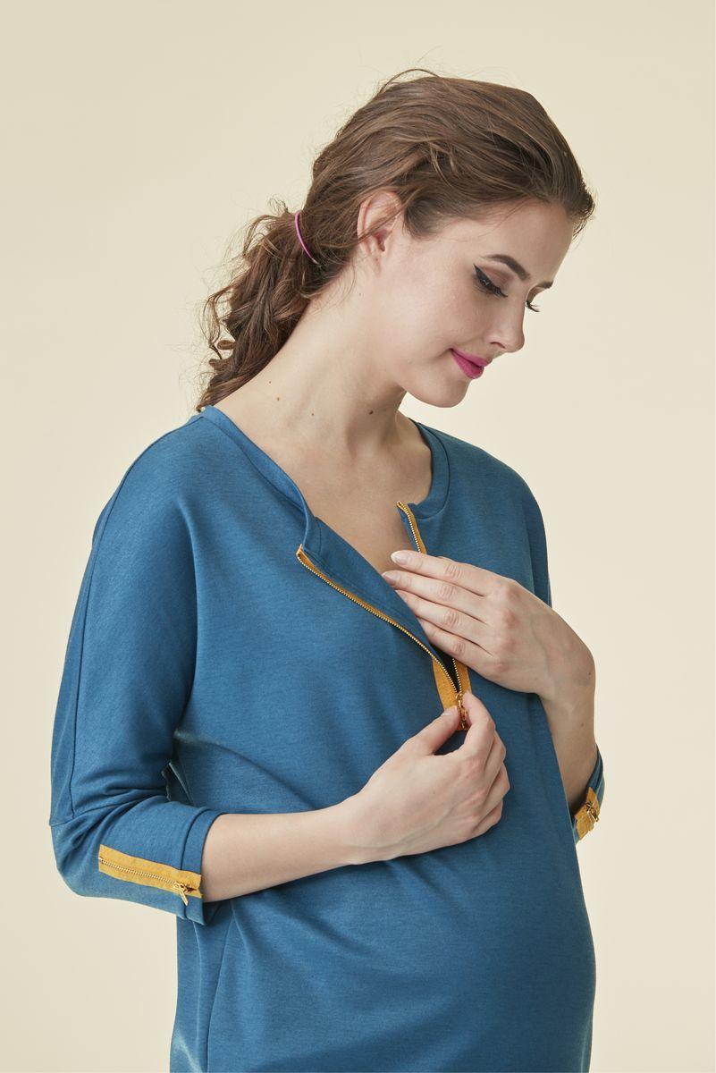 Туника 07236 темно-бирюзовый   Магазин для беременных и кормящих мам ... dc5c133c0fa