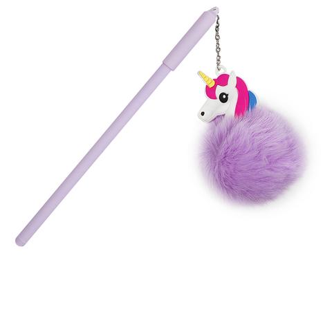 Ручка Pompon Purple черная гелевая