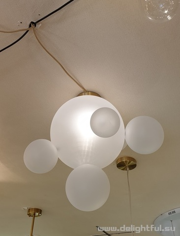 Bolle Frozen ceiling lamp  by Giopatto