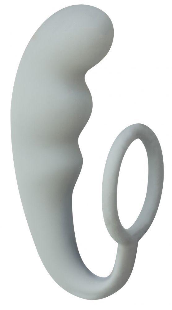 Эрекционные кольца: Серое эрекционное кольцо с анальным стимулятором Mountain Range Anal Plug