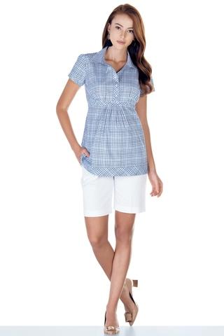 Блузка для беременных 01395 голубой