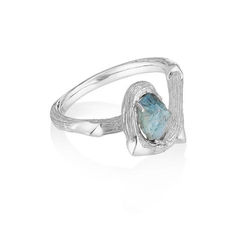 Кольцо ORIGIN - Голубой сапфир
