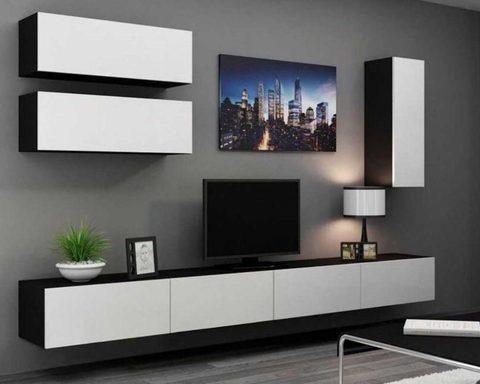 Гостиная модульная ЛИЯ-3 венге / белый глянец