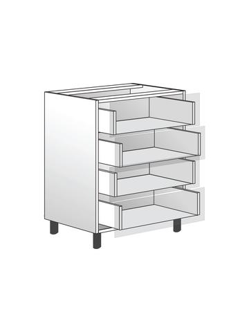 Напольный шкаф c 4 ящиками, 720х600 мм