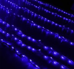 Гирлянда светодиодный дождь синяя, 2x6 м, LED-1500-220V