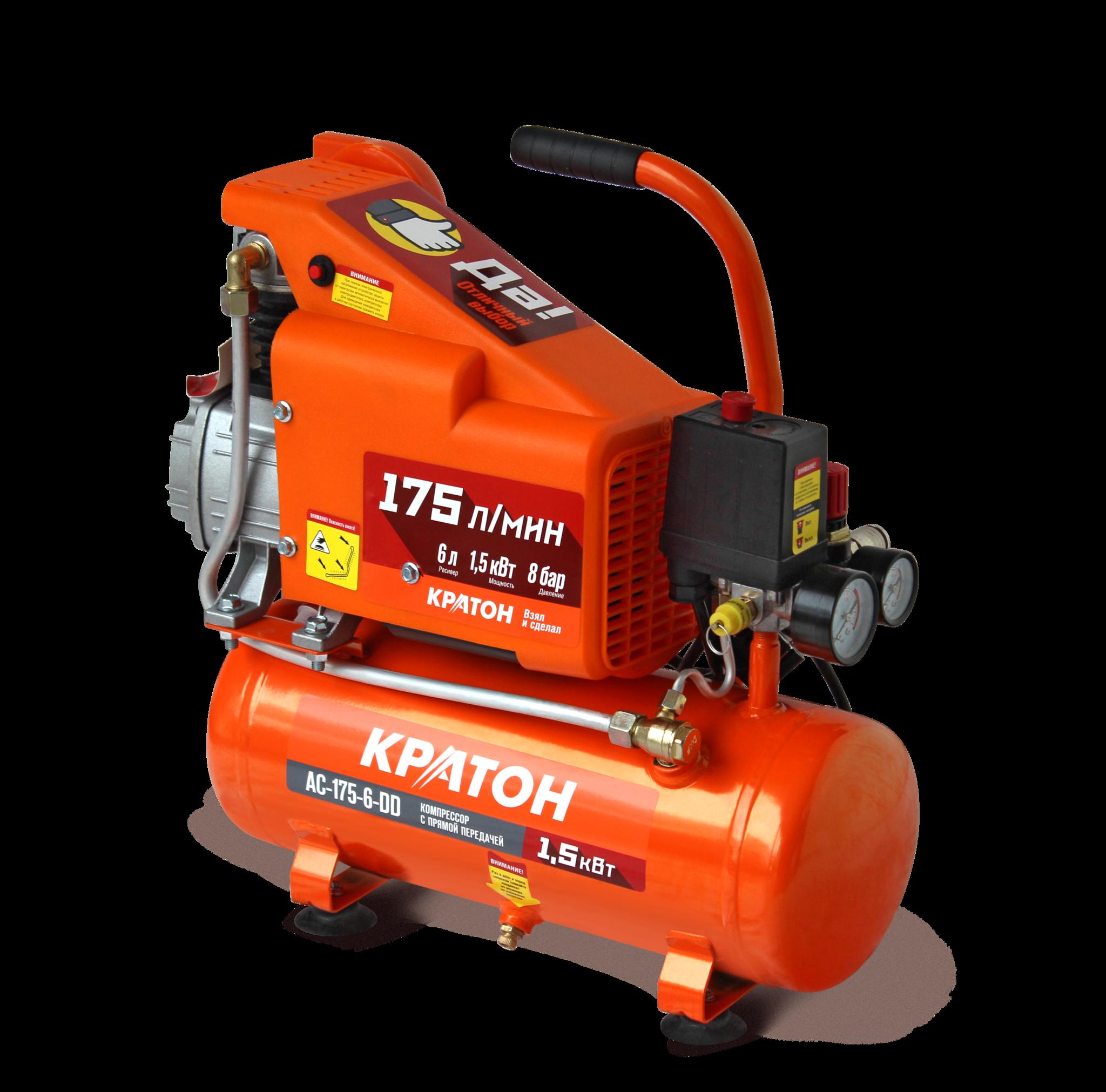 КРАТОН Компрессор с прямой передачей Кратон AC-175-6-DD AC-175-6-DD.png