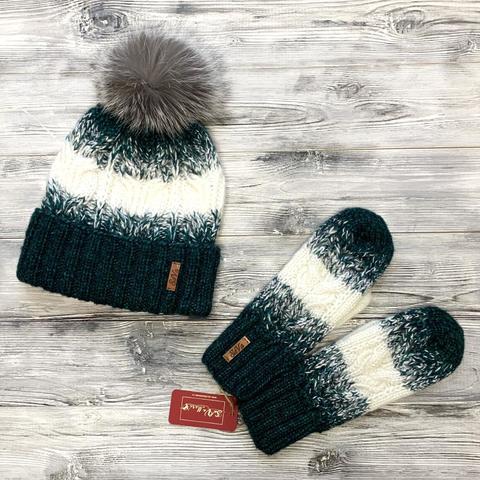 Комлект:шапка,варежки