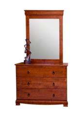 Комод с зеркалом Агата (836-DT MK-2109-RO) Темная вишня
