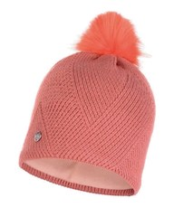 Вязаная шапка с флисовой подкладкой Buff Hat Knitted Polar Disa Peach