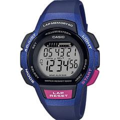 Женские электронные часы Casio LWS-1000H-2AVEF с хронографом