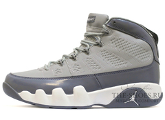 Кроссовки Мужские Nike Air Jordan IX   Retro Grey White