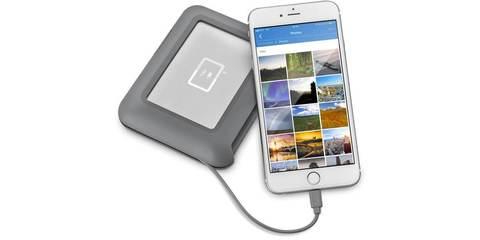 LaCie DJI Copilot USB 3.1 TYPE C Grey 2Tb с iPhone