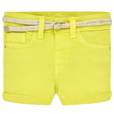 Шорты Mayoral желтые с поясом