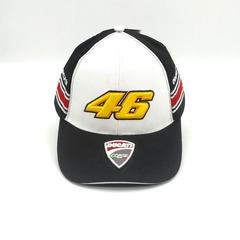 Кепка с вышитым логотипом Дукати (Бейсболка Ducati Corse The Doctor 46 Valentino Rossi) бело-черная