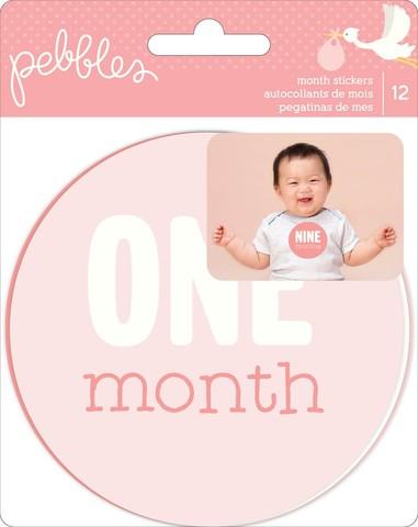 Стикеры для фото малышей до года-коллекция Lullaby Double- Lullaby First Year Age Stickers - Pebbles