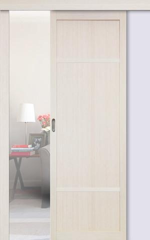 Перегородка межкомнатная Optima Porte 131.111, цвет беленый дуб, глухая (за 1 кв.м)