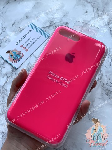 Чехол iPhone 7+/8+ Silicone Case Full /electric pink/ ярко-розовый
