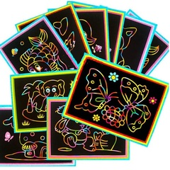 Magic Color Scratch Art Paper Childrens Set 1