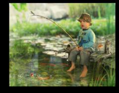 """Постер """"Маленький рыбак"""""""