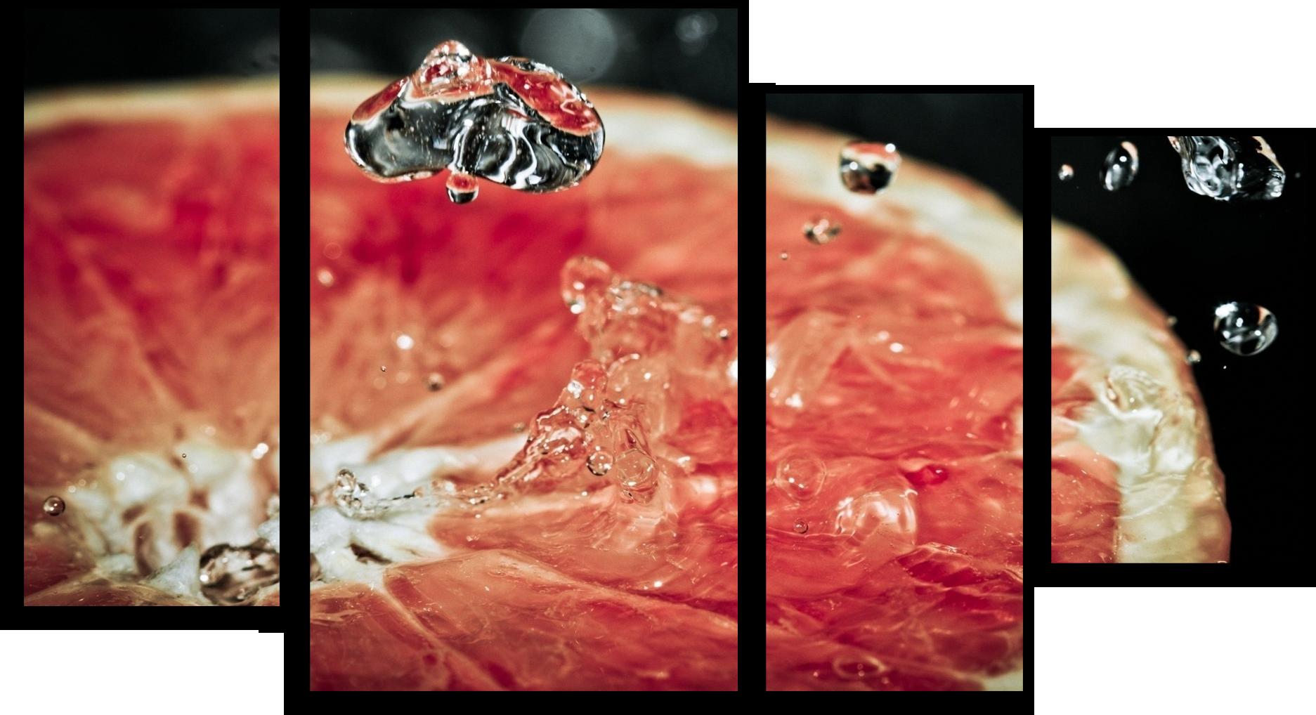 "Еда Модульная картина ""Сочный грейпфрут"" М391.png"
