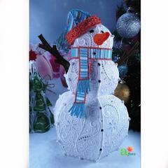 Снеговик ажурный, 27 см (ночник)