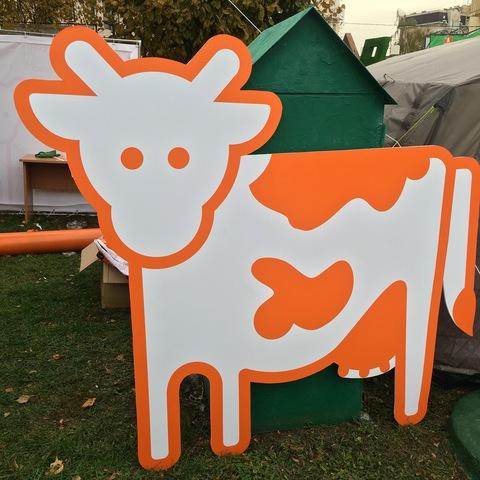 Ростовая фигура корова, 1,8х2м