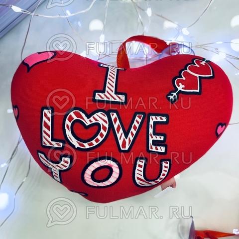 Сердце Валентинка антистресс игрушка I Love you (14х12х4 см)