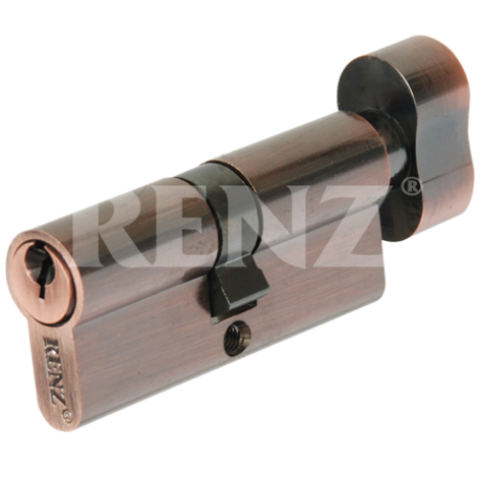 Фурнитура - Цилиндр Замка с барашком Renz СS 60-Н, цвет латунь блестящая