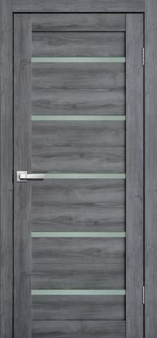 Дверь Porte line Мюнхен 26, стекло матовое, цвет дуб стоунвуд, остекленная