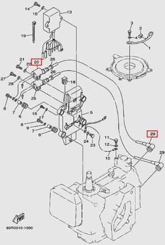 Катушка зажигания с высок. проводом для лодочного мотора Т30 Sea-PRO (9-20/29)