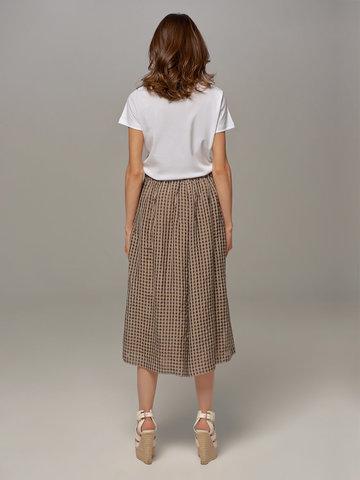 Женская юбка-брюки коричневого цвета в клетку Olmar GentryPortofino - фото 4