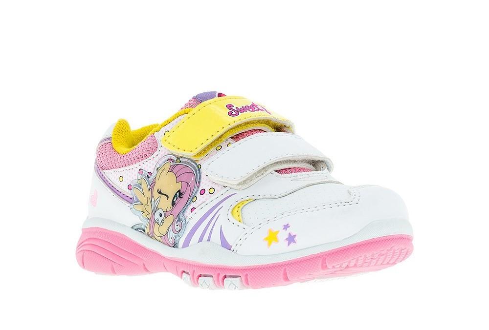 Кроссовки Мой Маленький Пони (My Little Pony) на липучках для девочек, цвет белый
