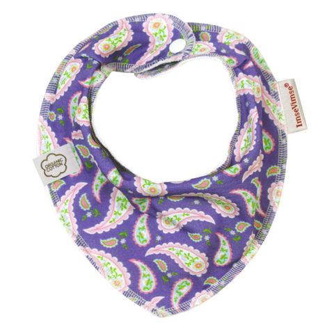 Нагрудник-слюнявчик ImseVimse, purple paisley