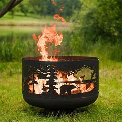 Чаша для костра Fire Cup Очаг Уютный с кольцом Тайга