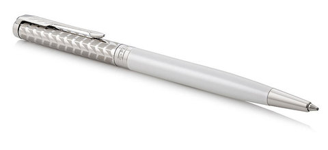 Шариковая ручка Parker Sonnet Slim Metal and Pearl Lacquer CT123