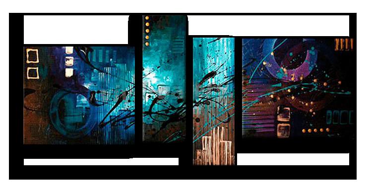 Модульные картины Вечерние краски (ручная работа маслом) р21.png