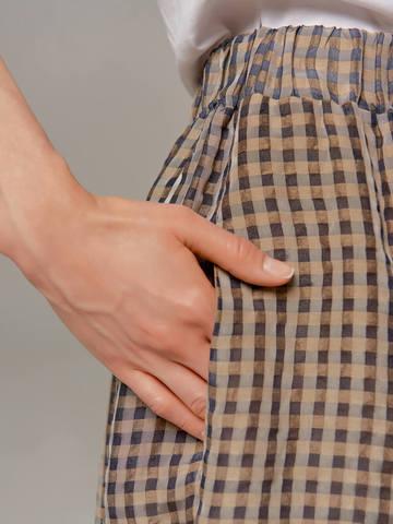 Женская юбка-брюки коричневого цвета в клетку Olmar GentryPortofino - фото 3