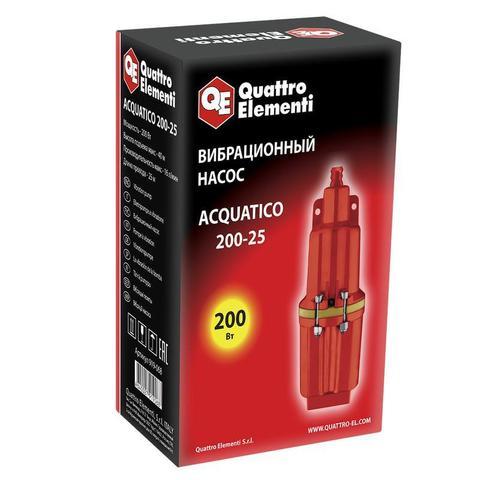Вибрационный насос QUATTRO ELEMENTI Acquatico 200-25 (200 Вт, 960 л/ч, для чистой, 40м, кабель 25 м, 3,26кг)