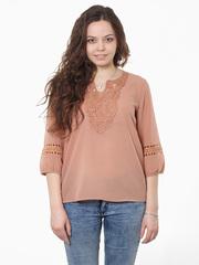 D736-2 блузка женская, бежевая